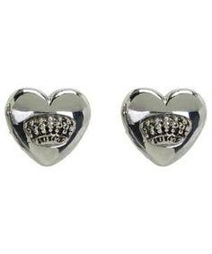 Juicy Couture Puffed Heart Stud Earrings #accessories  #jewelry  #earrings  https://www.heeyy.com/suggests/juicy-couture-puffed-heart-stud-earrings-silver/