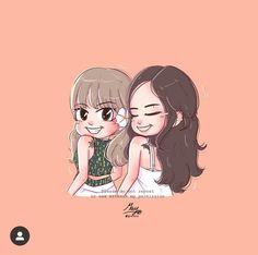 Jenlisaa Easy Doodles Drawings, Bff Drawings, Simple Doodles, Pink Wallpaper Anime, Cute Disney Wallpaper, Cute Cartoon Wallpapers, Jennie Lisa, Blackpink Lisa, K Pop