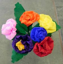Mexican Paper Flowers Multicolor set of 6 / Crafts/ Party Mexican Paper Flowers, Craft Party, Clip Art, Mexico, Rose, Crafts, Image, Ebay, Pink