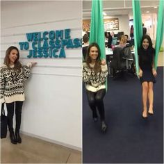 Loved visiting and today. I kind of think every office needs swings…. Instagram And Snapchat, Instagram Posts, Office Inspo, Jessica Alba, Swings, Celebrities, Celebs, Celebrity, Swing Sets