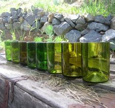 Am currently coveting these recycled wine bottle tumblers! I love the random shapes and colors!