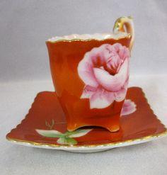 square teacups Asian