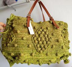 Handbag fabric charlotte bag 24 hours GERARD DAREL woodstock brand new orange . Crotchet Bags, Crochet Beach Bags, Knitted Bags, Fabric Handbags, Crochet Handbags, Crochet Purses, Diy Purse, Summer Bags, Branded Bags