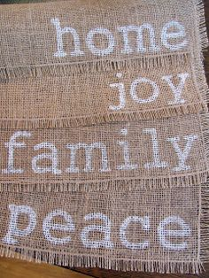 Home with Heather: Pinterest Challenge: Handpainted Burlap Placemats