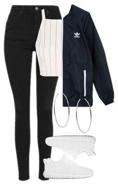 Untitled #802 by bring-the-drugs-i-bring-the-pain on Polyvore featuring polyvore fashion style Topshop adidas Originals Michael Kors clothing