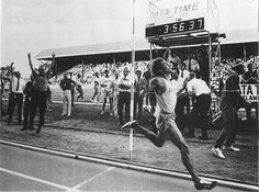 Freshman Steve Prefontaine,  age 19,  June 5 1970, Oregon Twilight Meet, Hayward Field, Eugene OR, Pre places 2nd in mile with 3:57.4 time, his first sub-four minute mile. by The Happy Rower, via Flickr
