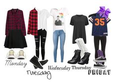 """""""ootds for this week 10/26"""" by imwithawesome on Polyvore featuring rag & bone, American Eagle Outfitters, Miss Selfridge, Vans, Avelon, Uniqlo, H&M, Converse, Splendid and Stussy"""