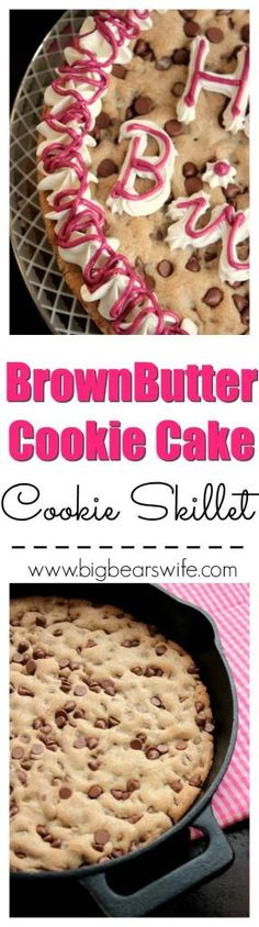 Brown Butter Cookie Cake - Cookie Skillet