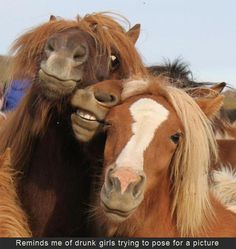 drunk girls posing for a picture