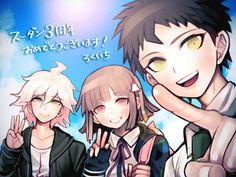 Hajime, Nagito and Chiaki