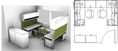 ... by Patti Bandy on Cubicle and Workstation Layouts & Design | Pint