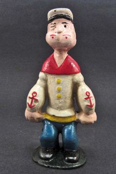 CAST IRON POPEYE THE SAILOR MAN BANK...