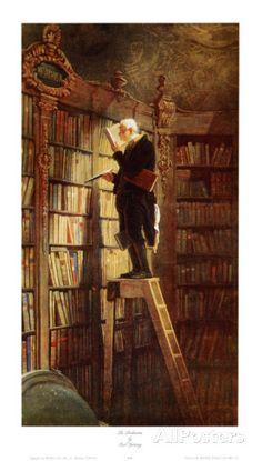 Bookworm Kunstdrucke von Carl Spitzweg...what a wonder painting