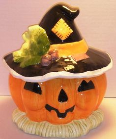 Pumpkin Scarecrow Cookie Jar, cookie jar, fall decoration, fall decor, scarecrow…