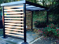 Smoking shelters and sheds from Safety Storage Systems. We are Ireland's largest manufacturer of Smoking Shelters with five designs to choose from. Cycle Shelters, Bike Shelter, Pub Ideas, Shelter Design, Bicycle Storage, Bike Shed, Extension Ideas, House Front, Patio Design