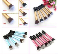 NEW Blue/Pink/Gold Flat Top Foundation/Angled Blusher/Face Powder Makeup Brushes Blusher Makeup, Blusher Tips, Top Foundations, Winter Beauty Tips, Homemade Blush, Beauty Soap, How To Apply Mascara, Eye Makeup Tips, Lip Pencil