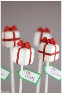 Pretty Present Cake Pops by Bakerella     TheCakeBlog.com