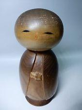 "Japanese Retro Sosaku Kokeshi Doll Awarded Artist Watanabe Masao H20cm 7.9"" 740g"