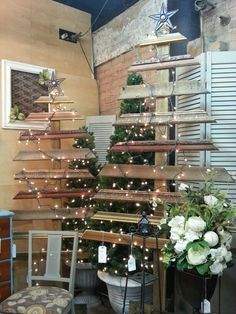 Turn old molding into christmas trees