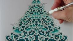 How I color a christmas tree Tutorial 1 Prismacolor Johanna´s Christmas ...