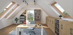 1 Likes - Entdecke das Bild von DeinSchrank.de auf COUCHstyle zu 'Heimbüro #dachschräge #regal #arbeitszimmer ©deinSch...'.