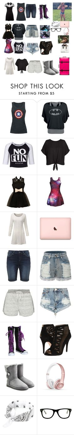 """""""Packing for DisneyWorld"""" by brie-bella-13 ❤ liked on Polyvore featuring Killstar, New Look, Silver Jeans Co., LE3NO, Calvin Klein, One Teaspoon, Nine West, NIKE, UGG Australia and Beats by Dr. Dre"""