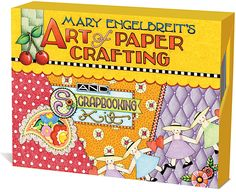 """Mary Engelbreit's Art of Paper Crafting from Andrews McMeel Publishing - a """"vast empire of cuteness"""" and designated as the """"Norman Rockwell for our times"""", Mary Engelbreit presents the ultimate kit for creating, crafting, and commemorating (I NEED! Mary Engelbreit, Heritage Scrapbooking, Scrapbooking Kit, Images Of Mary, Paper Crafts, Diy Crafts, Love Craft, Scrapbook Paper, Cross Stitch Patterns"""
