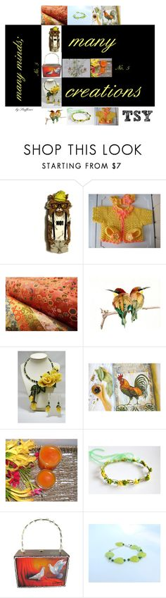 """""""many minds;  many creations Etsy No.5"""" by stuffezes ❤ liked on Polyvore featuring Giallo, Handle and vintage"""