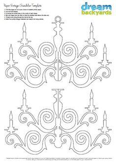 Paper chandelier PDF download:                                                                                                                                                      Mais