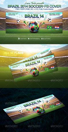 Brazil 14 Soccer Tournament  Facebook Cover
