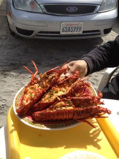 Lobster on the beach in Rosarito, Mexico. It was only like $60 bucks for a meal that fed 6 people!