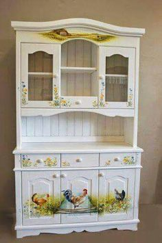 Four Seasons and Me: ein idyllisches Möbelstück - Diy Vintage Möbel Decoupage Furniture, Hand Painted Furniture, Refurbished Furniture, Paint Furniture, Repurposed Furniture, Shabby Chic Furniture, Furniture Making, Furniture Makeover, Furniture Ideas