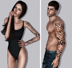 Half Sleeve Tattoo by Bill - Sims 3 Downloads CC Caboodle
