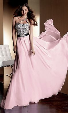 Cheap evening dress 2014 Style A-line One Shoulder Rhinestone Sleeveless Floor-length Chiffon Prom Dresses / Evening Dresses Pink Prom Dresses, Cheap Prom Dresses, Homecoming Dresses, Strapless Dress Formal, Formal Dresses, Dress Prom, Dresses Dresses, Chiffon Dresses, Chiffon Skirt