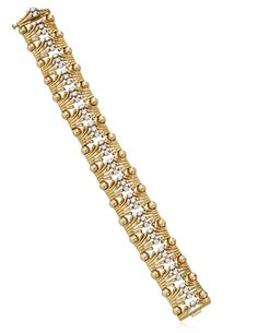 Tiffany & Co. Jean Schlumberger Diamond And Gold Bracelet
