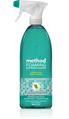 method bathroom cleaner's naturally derived, non-toxic ingredients deliver a mighty punch. our plant-based formula prevents soap scum + lime deposits.