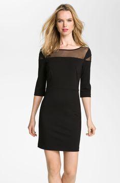 BB Dakota Mesh Yoke Ponte Sheath Dress by meredith