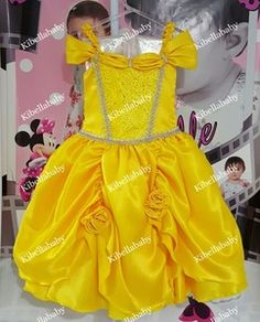 Vestido Infantil Bela - tam 4 e 6