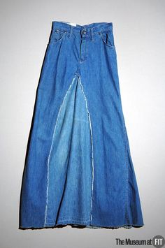 74543ff83f 1970 Terry Melville Blue cotton denim skirt repurposed from old jeans. The  Museum at FIT