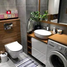 Small Bathroom Paint, Modern Small Bathrooms, Tiny Bathrooms, Modern Bathroom Design, Master Bathroom, Kitchen Design, Laundry Room Sink, Laundry Room Design, Bathroom Renovations