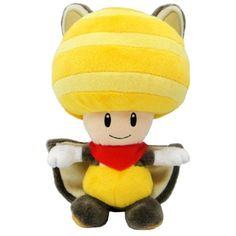 "Sanei ""New Super Mario Bros. U"" Flying Squirrel Yellow Toad plush Super Mario Bros, Super Mario All Stars, Super Mario World, Mario Bros., Mario And Luigi, Mario Toys, Yoshi, Flying Squirrel, Cute Characters"