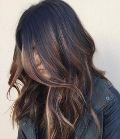 Light Brown Balayage For Black Hair