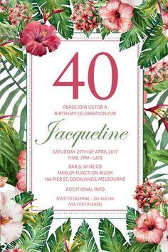 Birthday Inviations For Women 21st Invitations 30th 40th