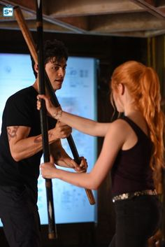 """#Shadowhunters 1x05 """"Moo Shu to Go"""" - Alec and Clary"""