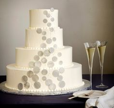 Modern gray wedding cake ... Wedding ideas for brides, grooms, parents & planners ... https://itunes.apple.com/us/app/the-gold-wedding-planner/id498112599?ls=1=8 … plus how to organise an entire wedding, without overspending ♥ The Gold Wedding Planner iPhone App ♥