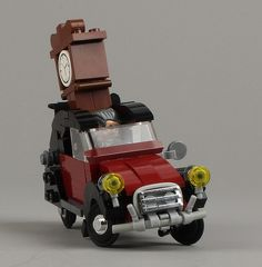 Citroen 2CV Charleston : Such Creativity ! I love the old clock ;) #LEGO #FirestarToys