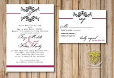 Classic Traditional Wedding Invitations  Black and by YellowHype, $3.00