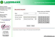Learn how to inquire your account balance in LandBank ATM Card online. This is the first step you must do to make a balance inquiry of your LandBank ATM Card online. Make it quick here. Atm Business, Atm Bank, Bank Account Balance, Check Cashing, Income Support, Card Balance, Online Checks, Financial Tips, Money Management