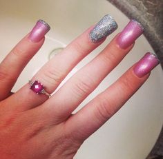 #glitter #longnails #pink #nails  Brittany