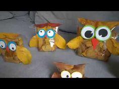 Leaf Owls crafts - YouTube
